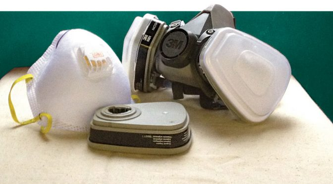 a reusable respirator with filter media and a protective face mask