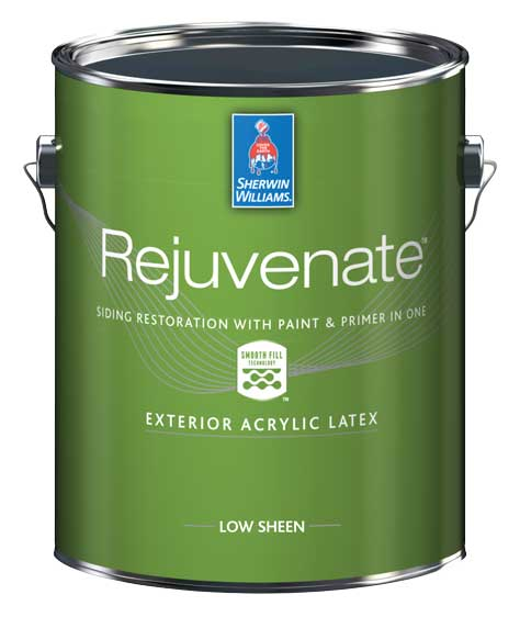 Photo of one gallon can of Rejuvenate Siding Restoration Coating