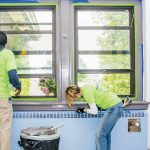 Volunteers worked with the city's Department of Parks and Recreation to renovate the Philadelphia Athletic Recreation Center.