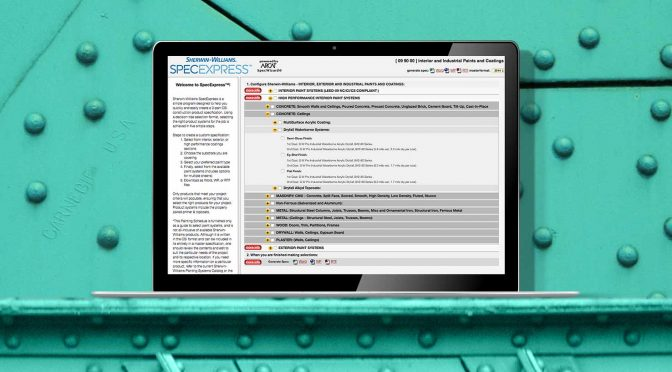 Use This Free Specification Writing Tool to Determine the Right Coating System for Your Job