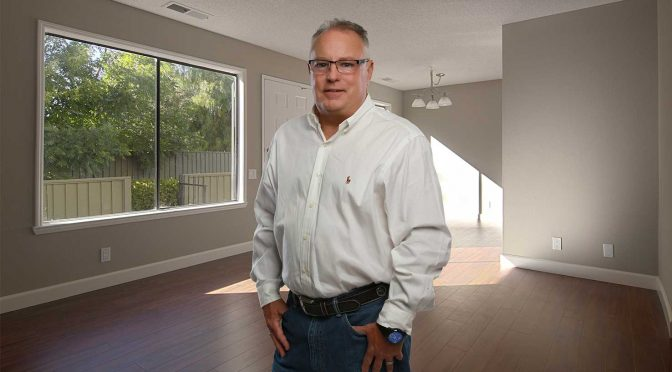 portrait of Steve Tomlinson of Tomlinson Paint Contractor, Bullard, Texas.