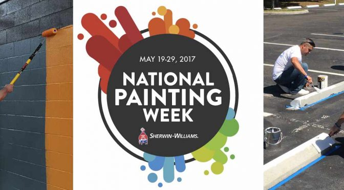 National Painting Week participants donating their time and skills to community projects