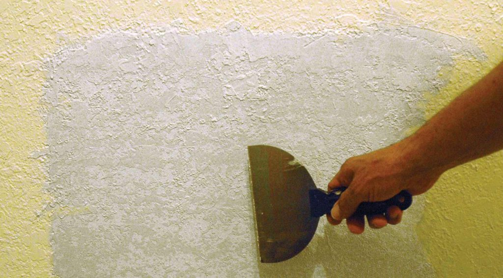 repairing damaged textured drywall