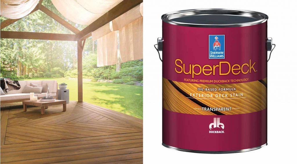 SuperDeck exterior deck stain