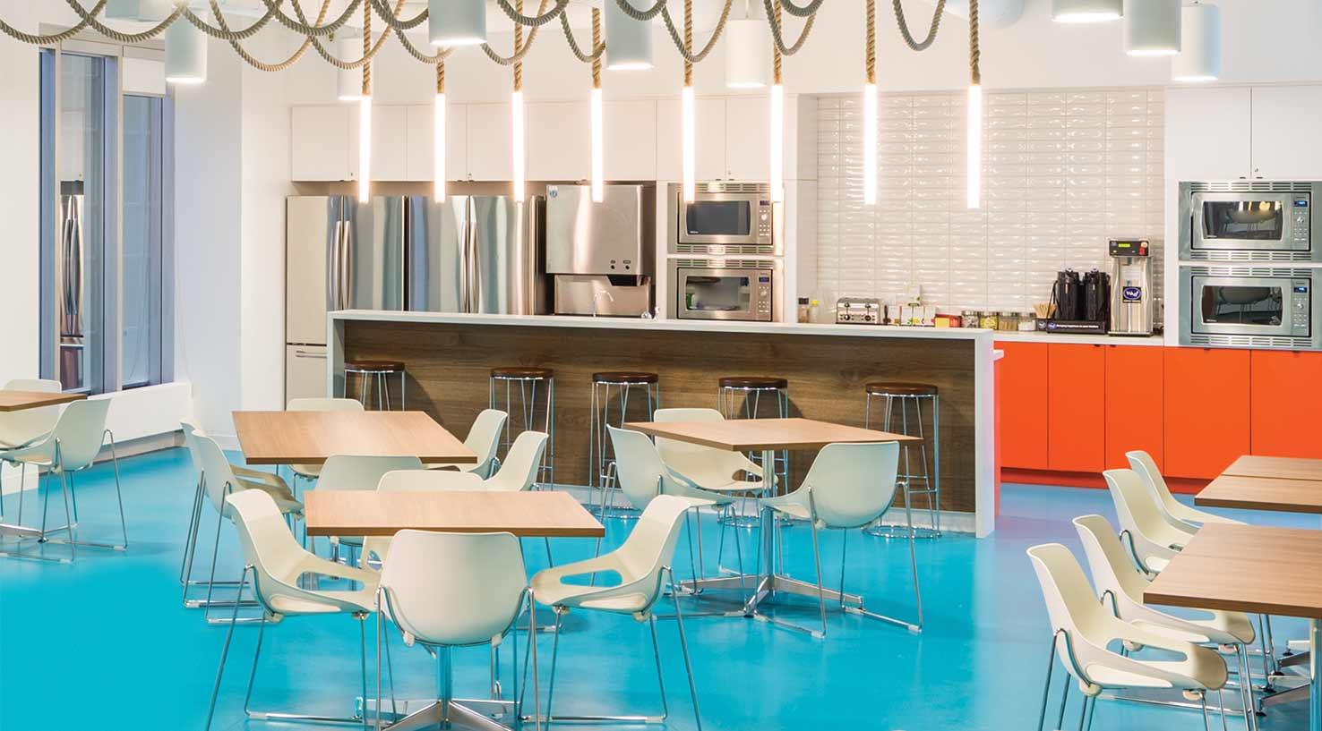 break room at Expedia corporate headquarters in Vancouver