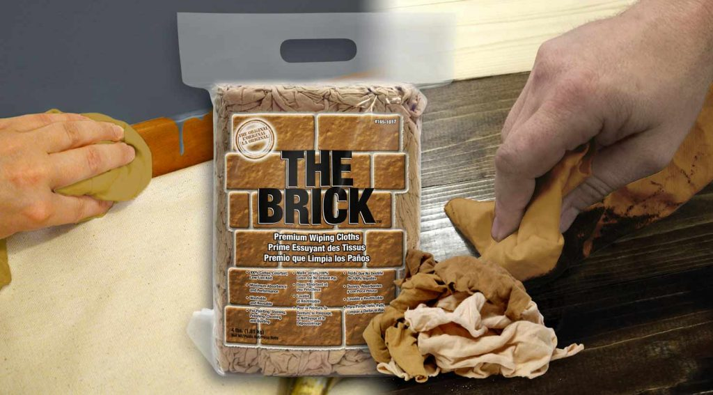 The Brick block of painters wiping cloths