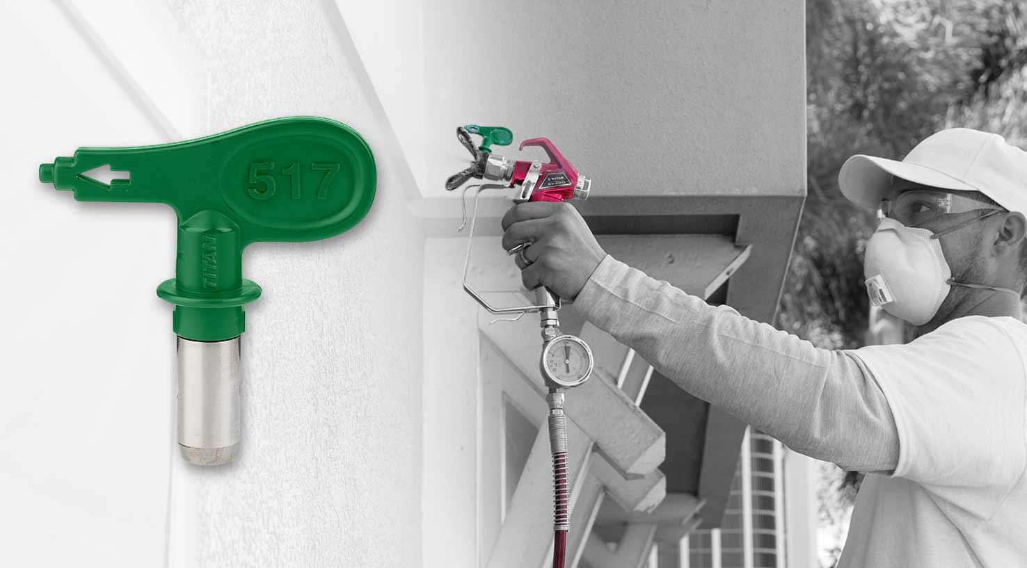 new Titan™ TR1 High Efficiency Airless (HEA) spray tip