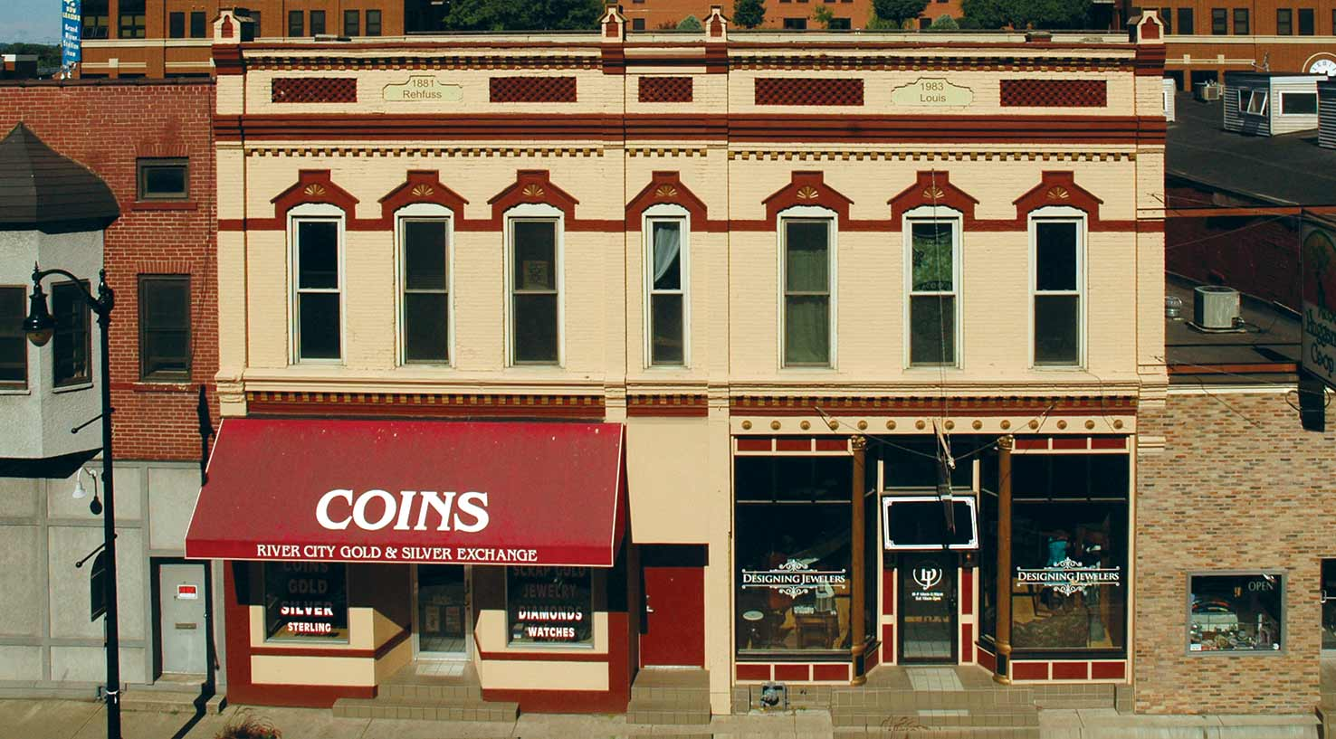 The historic Frederick Rehfuss Building in LaCrosse, WI, renovated by local contractors
