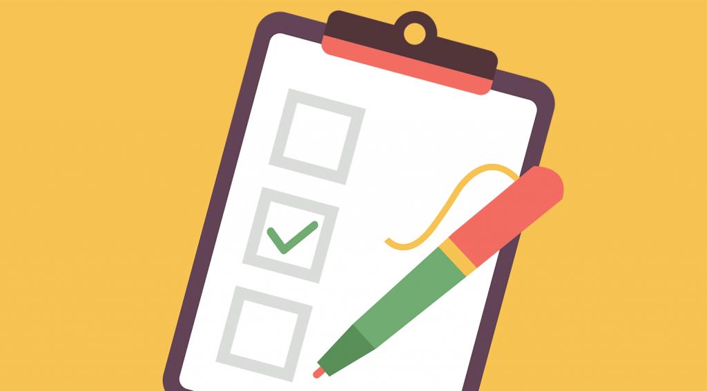 illustration of an estimate checklist on a clipboard