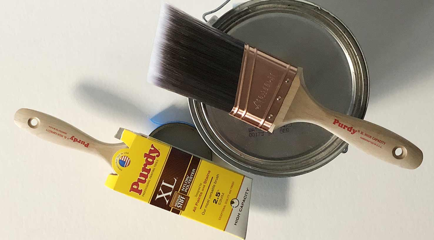 two new Purdy XL High Capacity brushes