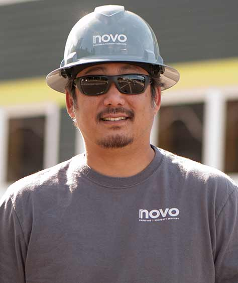 Cole Palea, owner of Novo Painting and Property Management