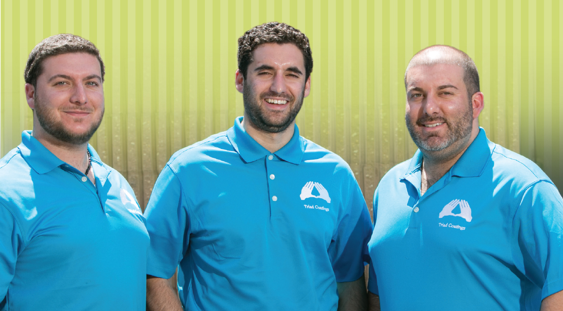 Nick, Taylor and Jeff Rossi of Triad Coatings and Sandblasting