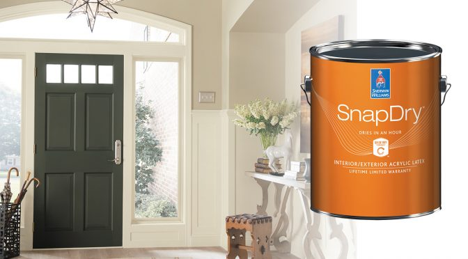 SnapDry<sup>™</sup> Door & Trim Paint: Outstanding Results, Without the Wait