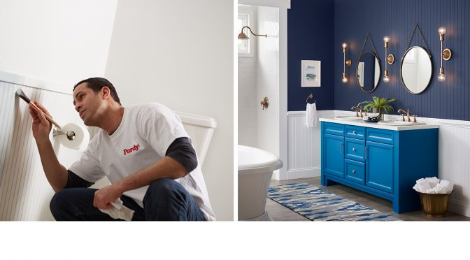 Painting Bathrooms Can Be a Challenge. Here are Some Secrets to Doing it Right… and Turning it Fast