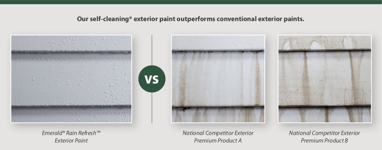 Self-cleaning paint vs. conventional paints